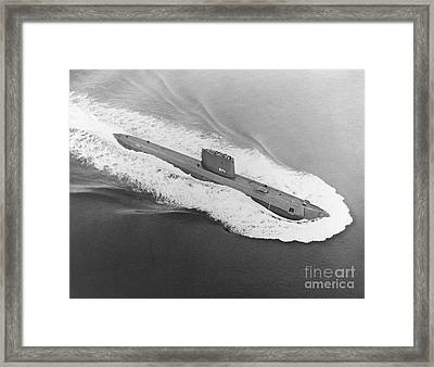 Uss Nautilus Worlds First Atomic Submarine Framed Print by Science Source