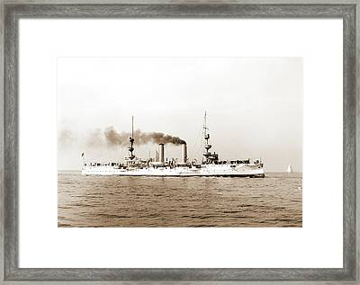 U.s.s. New Orleans, New Orleans Cruiser Framed Print by Litz Collection