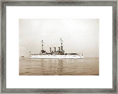 U.s.s. New York, New York Cruiser, Cruisers Warships Framed Print by Litz Collection