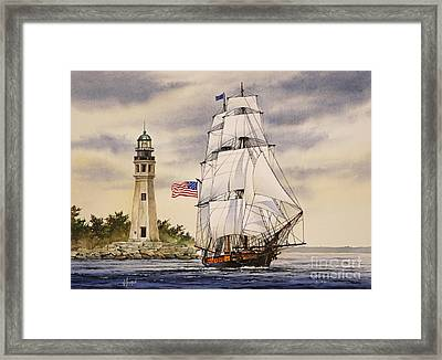 Uss Niagara Framed Print by James Williamson