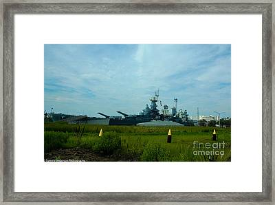 Uss North Carolina Bb-55 Framed Print by Tommy Anderson
