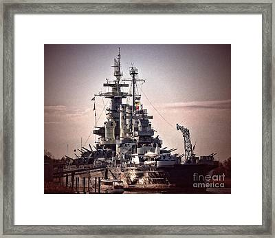 Uss North Carolina Retired Framed Print
