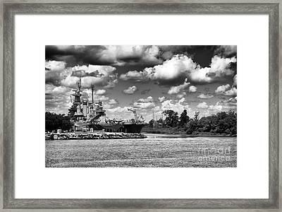 Uss North Carolina Framed Print