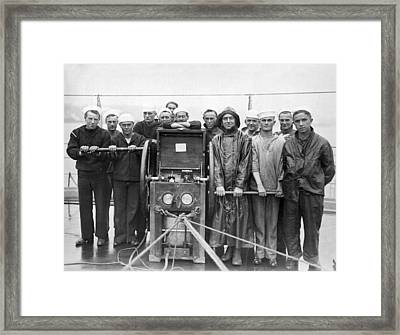 Uss Pennsylvania Dive Crew Framed Print by Underwood Archives