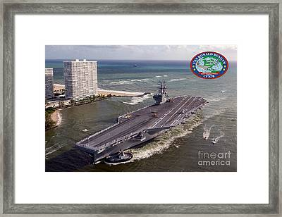 Uss Ronald Reagan Framed Print by Baltzgar
