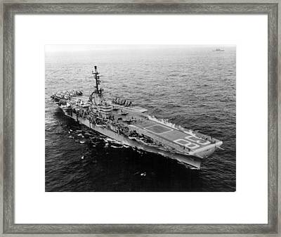 U.s.s. Shangri-la Framed Print by Retro Images Archive