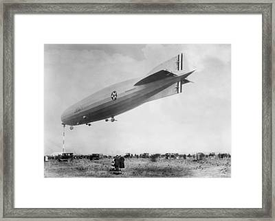 Uss Shenandoah, 1920s Framed Print