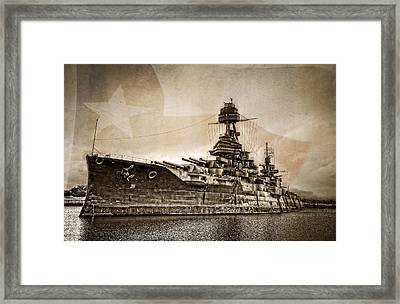 U.s.s. Texas Framed Print