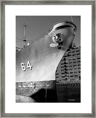 Framed Print featuring the photograph U.s.s. Wisconsin by Rebecca Davis