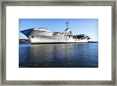 Uss Yorktown Aircraft Carrier Framed Print by Maurice Smith