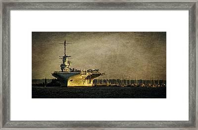 Uss Yorktown Cv10 Framed Print