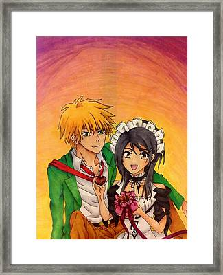 Usui And Misaki Framed Print by Samantha Goncz