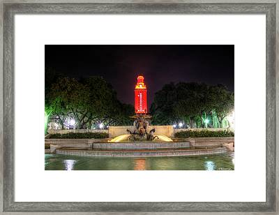Ut Tower 1 Framed Print by Andrew Nourse