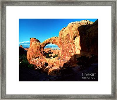 Utah - Arches National Park - Double O Arch 2 Framed Print by Terry Elniski