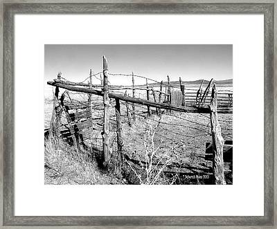 Framed Print featuring the photograph Utah Corral by Deborah Moen