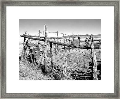Utah Corral Framed Print