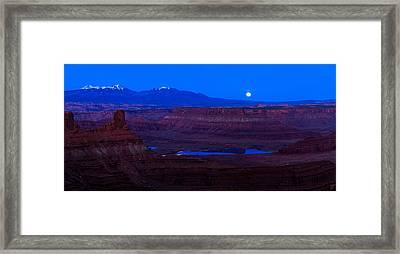 Utah Desert Moonrise Panorama Framed Print