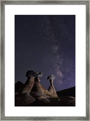Utah Desert Night Framed Print by Christian Heeb