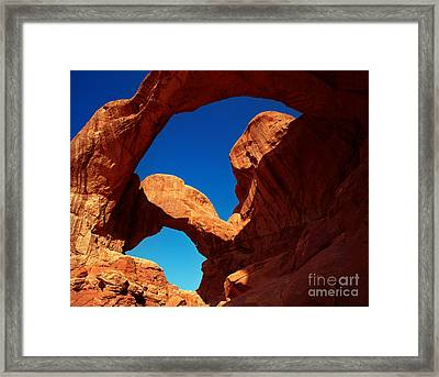Utah - Double Arch Framed Print
