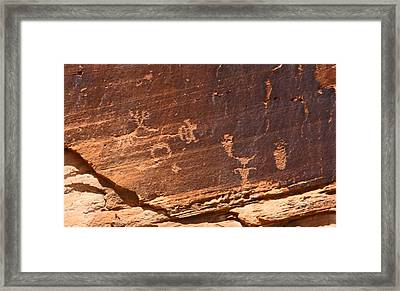 Utah Indian Writing Framed Print