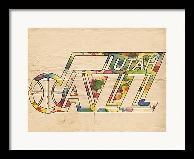 Utah Jazz Digital Art Framed Prints