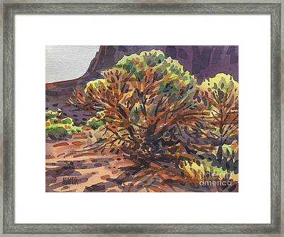 Framed Print featuring the painting Utah Juniper by Donald Maier