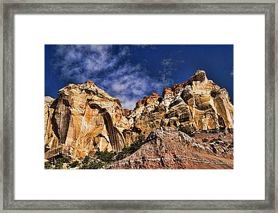 Utah Mountains Framed Print by Kathy Churchman