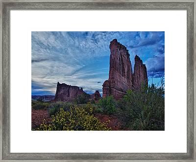 Utah Obelisk Framed Print