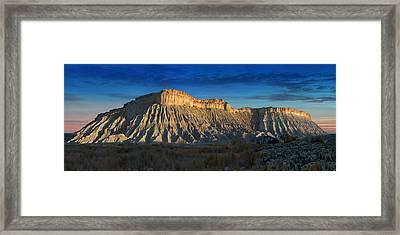 Utah Outback 40 Panoramic Framed Print