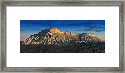 Utah Outback 40 Panoramic Framed Print by Mike McGlothlen
