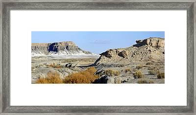 Utah Outback 42 Panoramic Framed Print by Mike McGlothlen