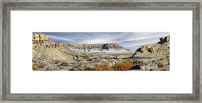Utah Outback 43 Panoramic Framed Print by Mike McGlothlen