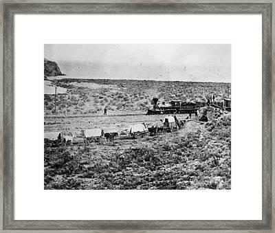 Utah Railroad, 1869 Framed Print