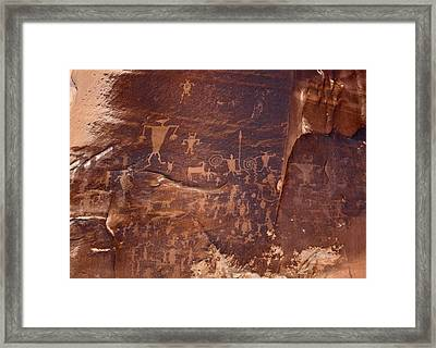 Utah Rock Art Framed Print