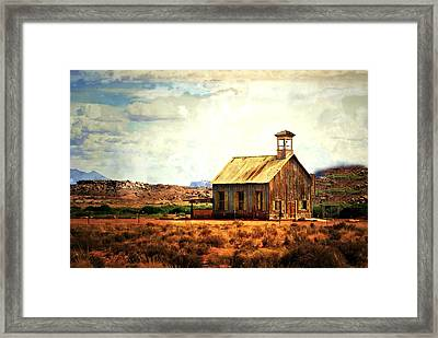 Utah Schoolhouse Framed Print by Marty Koch