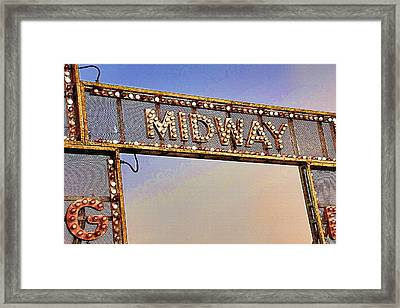 Utah State Fairgrounds 3 - Midway Entrance Framed Print