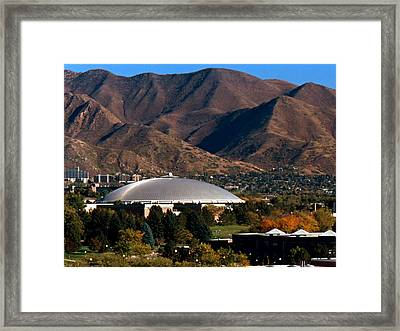Utah Utes Jon M. Huntsman Center Framed Print by Replay Photos