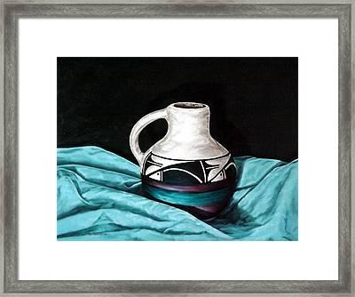 Ute Mnt Pottery Framed Print by Linda Becker