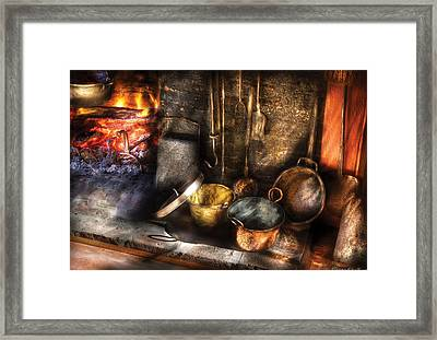 Utensils - Colonial Kitchen Framed Print by Mike Savad