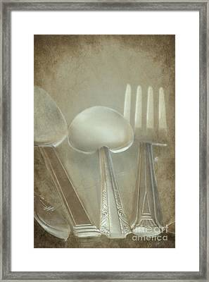 Utensils Framed Print by Sophie Vigneault