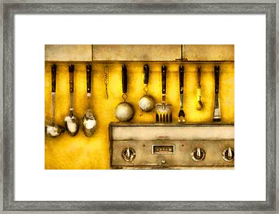 Utensils - The Kitchen  Framed Print by Mike Savad
