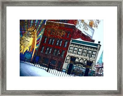 Utica In The Winter Framed Print by Stephanie Grooms