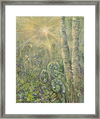 Utopia Fiddle Light Framed Print