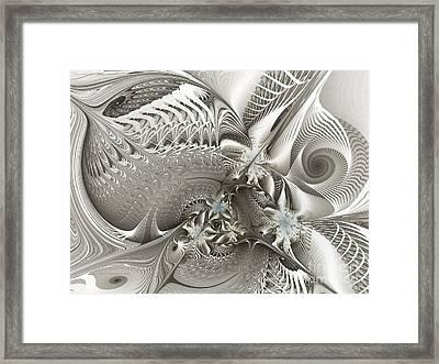 Utopia-fractal Art Framed Print by Karin Kuhlmann