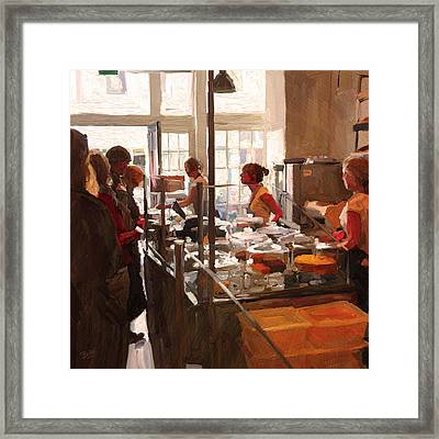 Framed Print featuring the painting Utrecht. Sector 3 Horeca Shop by Nop Briex