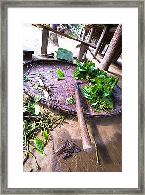 Uttar Dari Village, Raba (weavers Framed Print