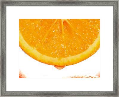 Utterly Orange Framed Print by Paul Cowan