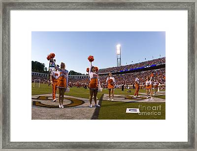 Uva Cheerleaders Framed Print
