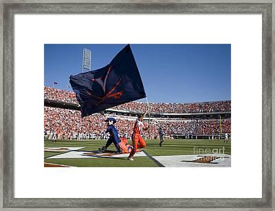 Uva Virginia Cavaliers Football Touchdown Celebration Framed Print by Jason O Watson