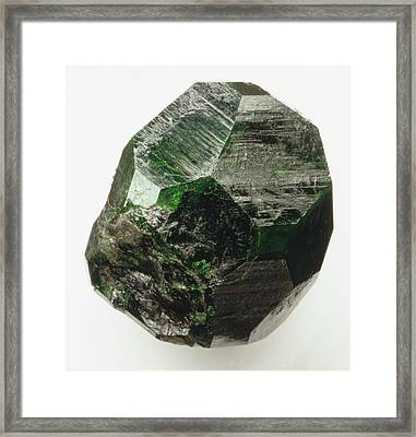 Uvarovite (garnet) Crystal Framed Print